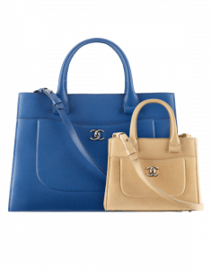 Chanel Blue Medium and Beige Small Neo Executive Shopping Bags