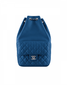 Chanel Blue Quilted Lambskin Small Backpack Bag