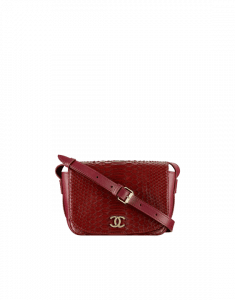 Chanel Burgundy Python Small Messenger Bag