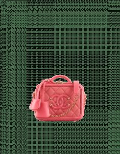 Chanel Coral CC Filigree Vanity Case Mini Bag