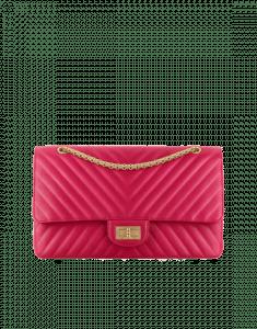 Chanel Dark Pink Chevron 2.55 Reissue Size 227 Bag