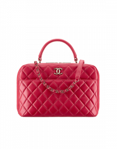 Chanel Dark Pink Large Trendy CC Bowling Bag