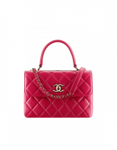 Chanel Dark Pink Small Trendy CC Top Handle Bag