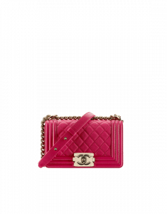 a34cdf6430b1 ... Spring/Summer 2017 Act 1. Boy Bags. Chanel Fuchsia Quilted Small Boy  Chanel Flap Bag