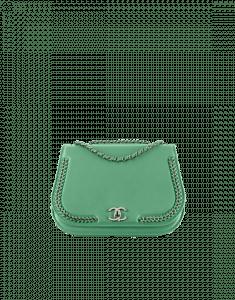 Chanel Green Braided Chic Medium Flap Bag