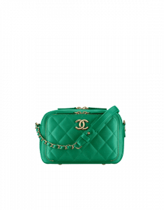 Chanel Green Business Affinity Camera Case Bag