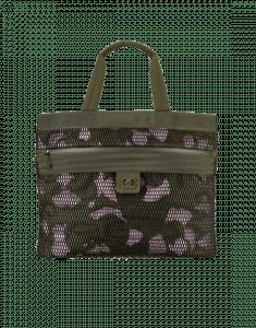 Chanel Khaki Fabric/Mesh Sporty CC Large Shopping Bag