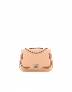 Chanel Light Beige Braided Chic Small Flap Bag