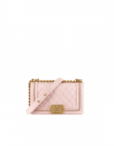 Chanel Light Pink Small Boy Chanel Jacket Flap Bag