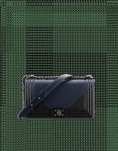 Chanel Navy Blue/Black Old Medium Boy Chanel Flap Bag
