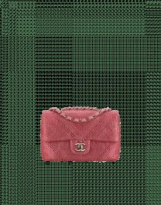 Chanel Pink Metallic Goatskin with Strass Mini Flap Bag