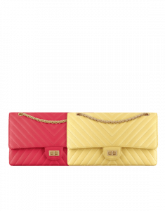 Chanel Pink and Yellow Chevron 2.55 Reissue Size 226 Bags