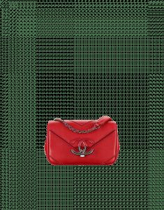 Chanel Red Chevron Mini Flap Bag