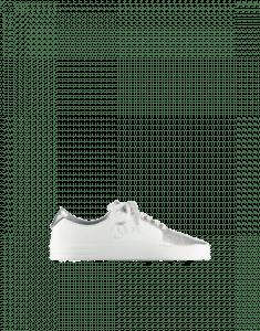 Chanel Silver/White Iridescent Goatskin Sneakers