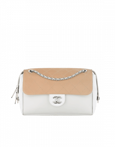 Chanel White/Beige Magnetic Small Flap Bag