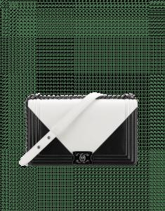 Chanel White/Black New Medium Boy Chanel Flap Bag
