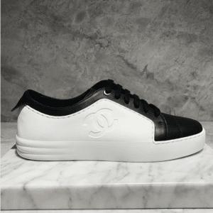 Chanel White/Black Sneakers