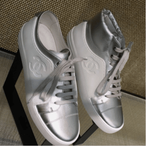 Chanel White/Silver Sneakers 6