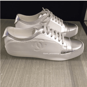 Chanel White/Silver Sneakers