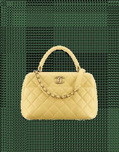 Chanel Yellow Trendy CC Bowling Bag
