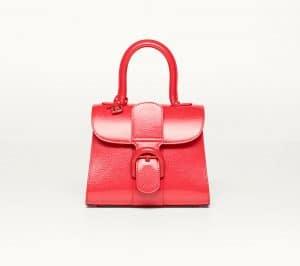 Delvaux Corail Vernis Gel Brillant Mini Bag
