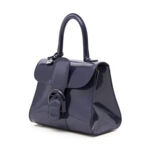 Delvaux Indigo Vernis Gel Brillant Mini Bag