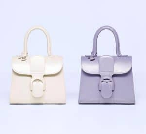 Delvaux Ivory and Lilas Brillant Mini Bag