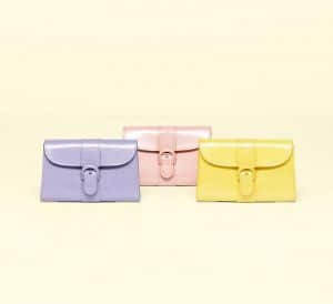 Delvaux Lilas / Nude / Citron Vernis Gel Brillant Coin Purse