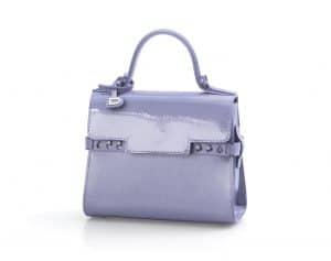 Delvaux Lilas Vernis Gel Tempete Micro Bag