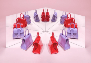 Delvaux Lilas and Corail Vernis Gel Brillant Mini Bag