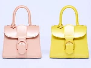 Delvaux Nude and Citron Brillant Mini Bag