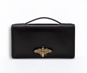Dior Black Bee Pouch Bag