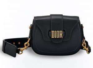Dior Black D-Fence Saddle Bag