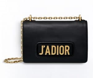 Dior Black J'adior Flap Bag with Chain