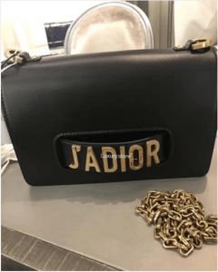 Dior Black J'adior Flap Bag with Chain 3