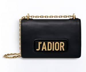 Dior Black J'adior Flap Bag with Chain
