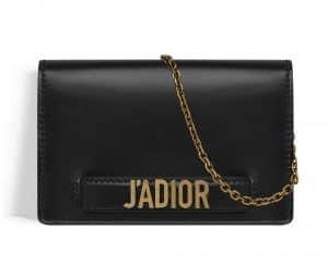Dior Black J'adior Wallet on Chain Pouch Bag