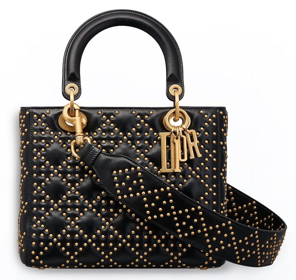 how to wear a black lady dior bag
