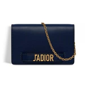 Dior Indigo Blue J'adior Wallet on Chain Pouch Bag