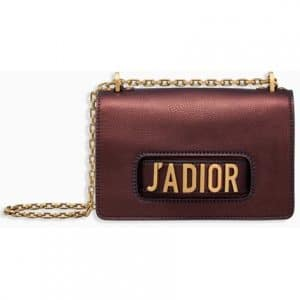 Dior Noisette Metallic J'adior Flap Bag
