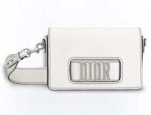 Dior White Flap Bag with Slot Handclasp