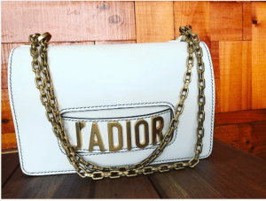 Dior White J'adior Flap Bag with Chain 3