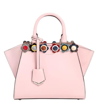 Fendi Mini 3Jours Leather Bag with Floral Studs