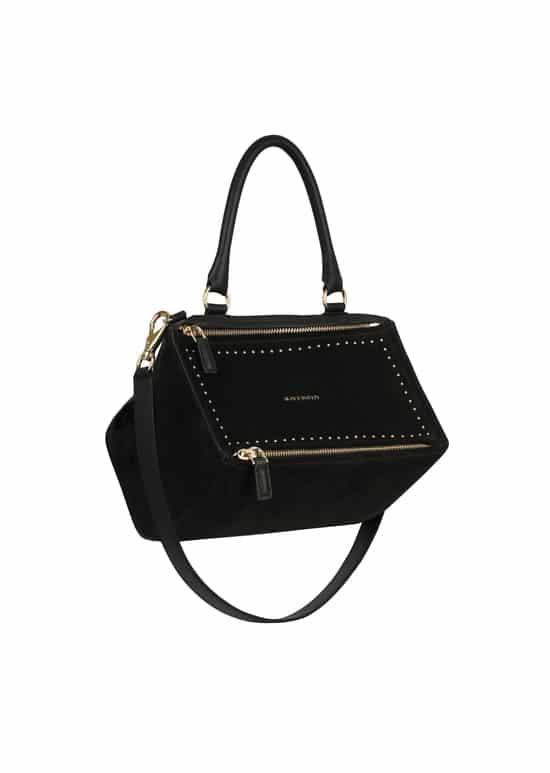 Givenchy Black Suede with Studs Small Pandora Bag b1e4425caecdf
