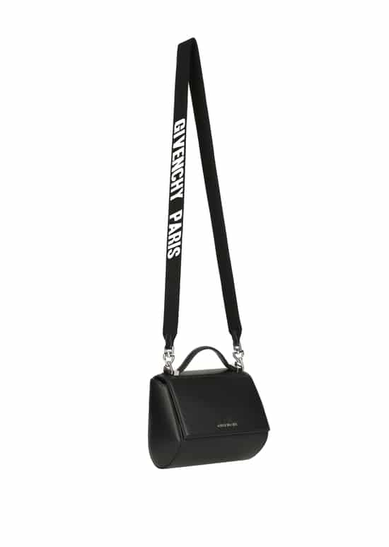 ce841c5481 Givenchy Black with Givenchy Paris on Strap Mini Pandora Box Bag