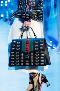 Gucci Black Embellished Sylvie Top Handle Bag - Fall 2017
