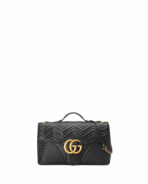 e2aa26fa9624 Gucci Black Maxi GG Marmont Flap Bag · Gucci Red Metallic Floral Jacquard  Medium ...