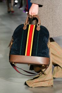 Gucci Blue/Brown Suede Top Handle Bag - Fall 2017