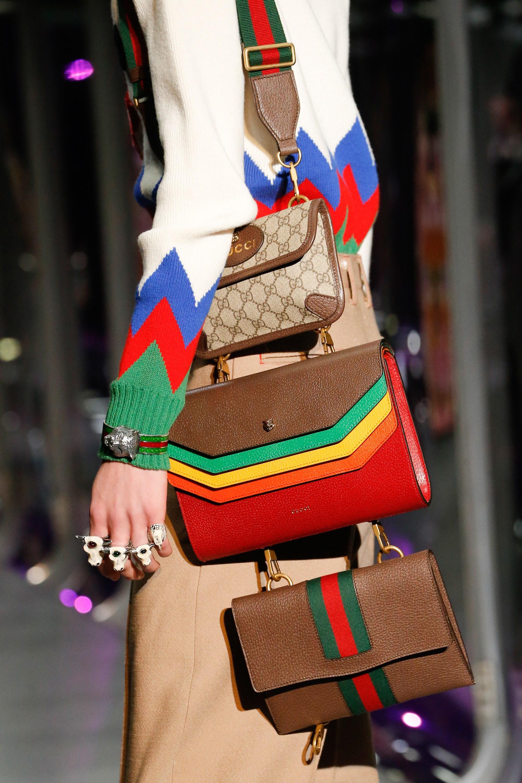 gucci bags fall 2017. gucci gg supreme and multicolor mini bags - fall 2017 spotted fashion