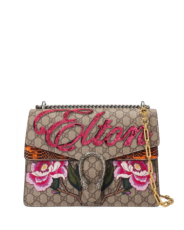 Gucci Multicolor Gg Supreme Elton Medium Dionysus Bag